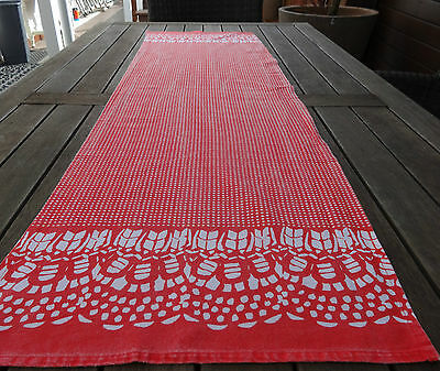 Table Runner 40 X 150Cm Shabby Chic Style In Raspberry Colour - Heavily Reduced