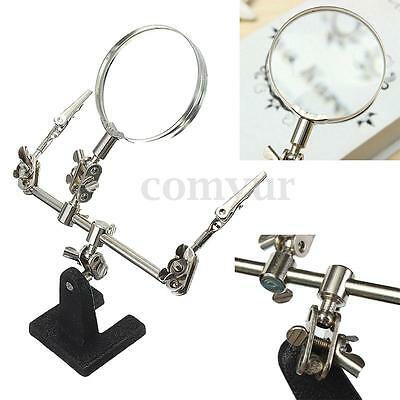 3th Hand Magnifier Helping Soldering Iron Stand Clamp Clip Holder Alligator Clip