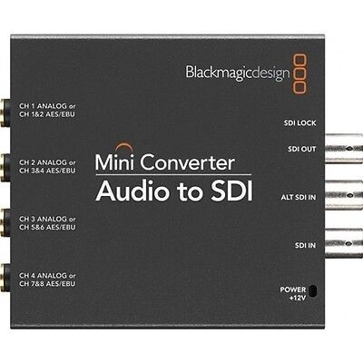 BlackMagic Design CONVMCAUDS Analog Audio to SDI Converter World Ship Free USA