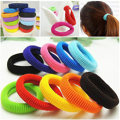 50Pcs Kids Girl Lady Elastic Rubber Hair Bands Ponytail Holder Head Rope Ties BE