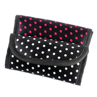 Polka Dot Crochet Hook Pouch Crochet Needle Case Cover Holder Organizer Bag Hot