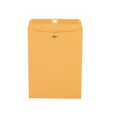 "Universal Clasp Envelope Side Seam 28lb 9"" x 12"" Kraft 100 Count"