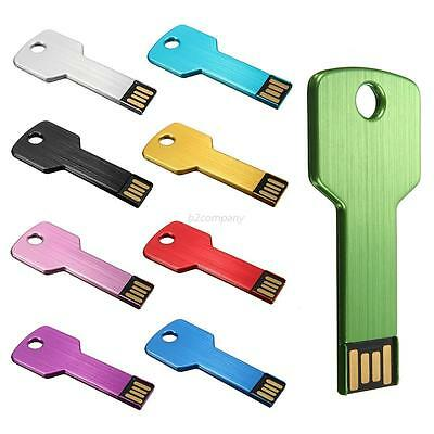 Key USB 2.0 Flash Memory Stick Pen Drive Storage Thumb U Disk 16/32/64/128GB LOT