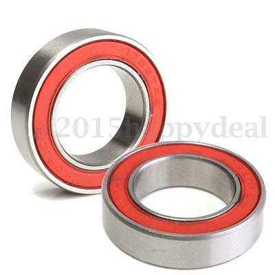 2Pcs 17287 2RS Ceramic Bicycle Ball Bearing Rubber Sealed Cover 17x28x7mm