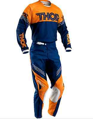 THOR MOTOCROSS PANTS & JERSEY COMBO 2016 NEW! KTM Orange #32 #34 #36 #38 #40 MX