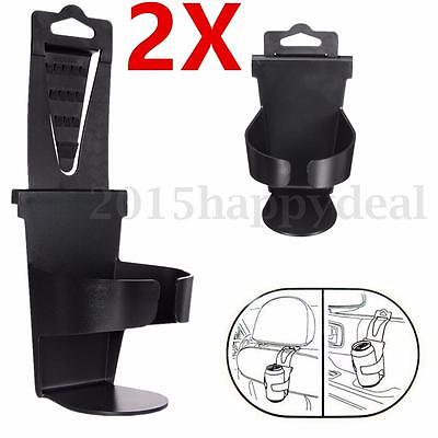 2 x Universal Auto Car Vehicle Door Seat Mount Drink Bottle Can Cup Holder Stand