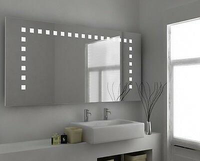 LED Illuminated Bathroom Mirror with Sensor and Demister pad- c56