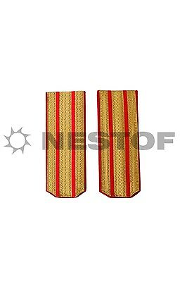 Russian Ww1 Higher Officers Red Shoulder Boards Russian Made Free Shipping
