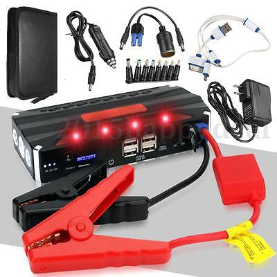 68800mAh 12V 4USB Multi-Function Car Jump Starter Power Bank Rechargable Battery
