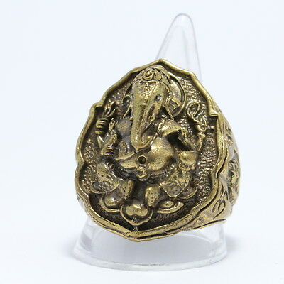 "Thai amulet :A ring ""Lord Ganesh"" ,Rich and Luck Good Business."