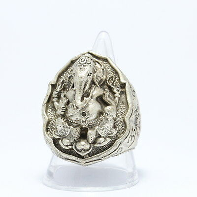 """Thai amulet :A ring """"Lord Ganesh"""" ,Rich and Luck Good Business.(U.S. Size 10)"""