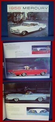 1958 MERCURY Automobile Sales Brochure - Lg PRESTIGE Version - MINT CONDITION