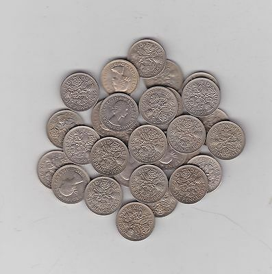 29 x 1959 QUEEN ELIZABETH II SIXPENCE COINS IN MINT CONDITION OR VERY NEAR
