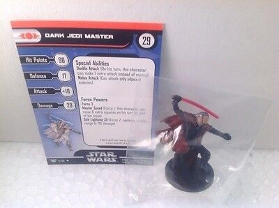 Star Wars Champions of the Force 08/60 Dark Jedi Master (U) Miniature