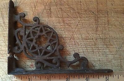 "Eastlake Antique Cast Iron Star Corbels Shelf Bracket 4"" By 5"""