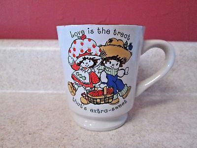 Vintage Strawberry Shortcake Huckleberry Coffee Cup 1980 Love is the Treat Mug