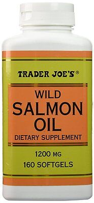 Trader Joe's Wild Salmon Oil 1200mg, 160 Softgels - Dietary Supplement