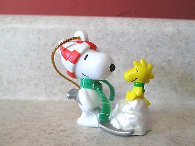 Christmas PVC Ornament Snoopy Woodstock Charlie Brown Whitman's Peanuts