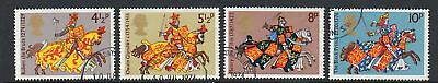 GB 1974 Medieval Warriors Fine used set stamps