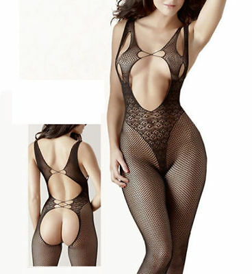Fishnet BODYSUIT Babydoll Set Lingerie Underwear BODYSTOCKING Crotchless