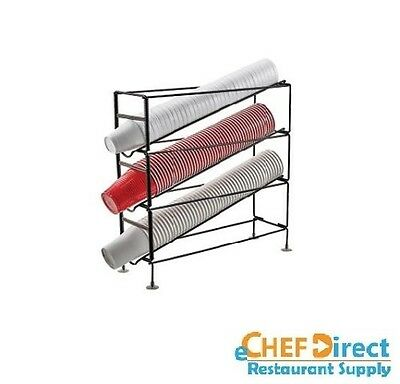 """20"""" L x 6-1/4"""" W x 19-1/4"""" H  3 Tiers Cup Dispensing Rack - FREE SHIPPING!!!"""