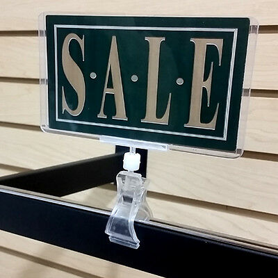 Clip On Sign Clamp POP Rotating Sign Holder - 6 pieces