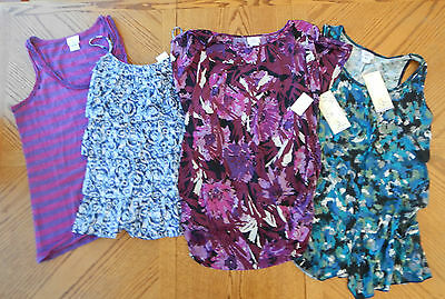 NEW Maternity clothes Lot size Large Summer Tops $138 Oh Baby Motherhood NWT L