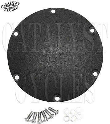 Wrinkled Black Derby Cover for Harley Sportster 48, Iron, Nightster, and 72