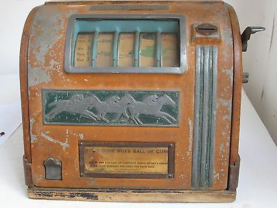 Vintage Art Deco Coin Op High Stakes Trade Stimulator Race Horses