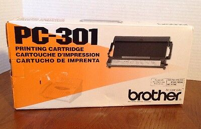 Brother PC 301 PC-301 Black Fax Cartridge NEW IN BOX