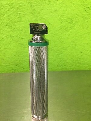 Teleflex Rusch Laryngoscope Handle Green Spec 2 Fiber-Optic Excellent Condition