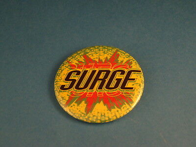 "SURGE Old Soda BUTTON pin pinback 2 1/4"" badge NOS Big! COCA -COLA discontinued"