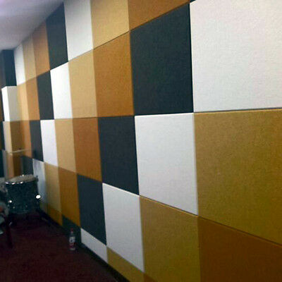 DIY Decoration  Polyester Fibre Acoustic Studio Soundproof Wall Panels 11 colors