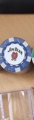 jim beam blue poker chips (20 chips)