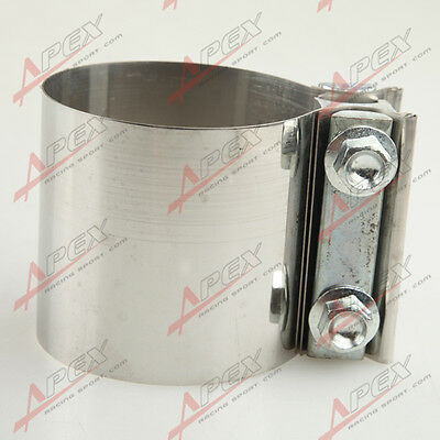 """3.0 """" Stainless steel Exhaust Flat Band Clamp  /Clamps"""
