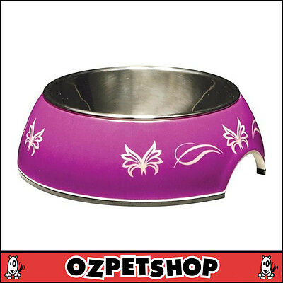 CATIT 2-IN-1 Style Durable Cat Bowl - Purple Butterfly