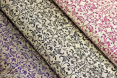 Damask glitter printed gift wrapping sheets perfect for EID 70x50cm - eid wrap
