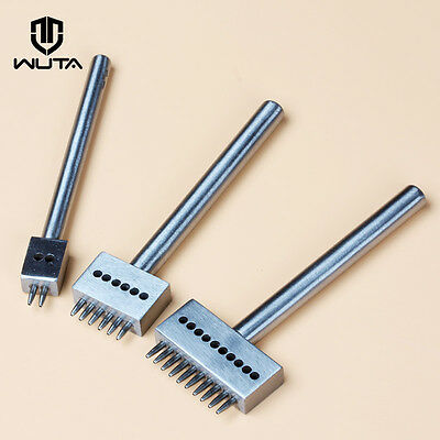 Wuta Leather Craft 1.0mm Round Hole Row Punch Stitching Cutter Tool 4.0-8.0mm