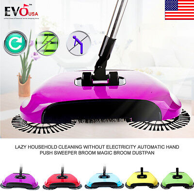New Automatic Hand Push Sweeper Broom Household Cleaning Without Electricity ☆☆