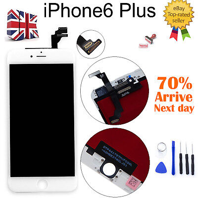 For iPhone 6 Plus 5.5''New White LCD Touch Screen Digitizer Assembly Replacement