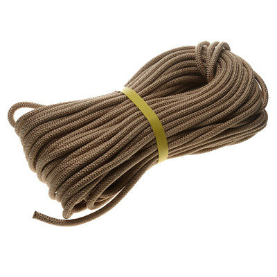40M Static Tree Carving Rock Climbing Auxiliary Rope Safety Rescue Cord Gear