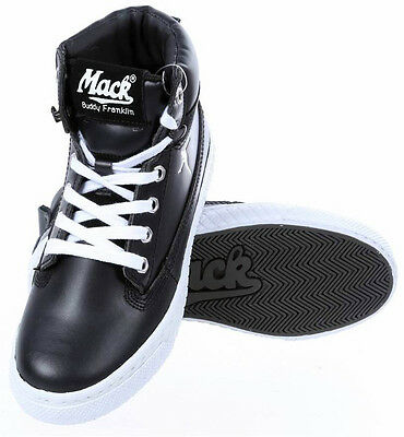 MACK BUDDY FRANKLIN Junior Lace-Up High Top Boots, , Leather Black