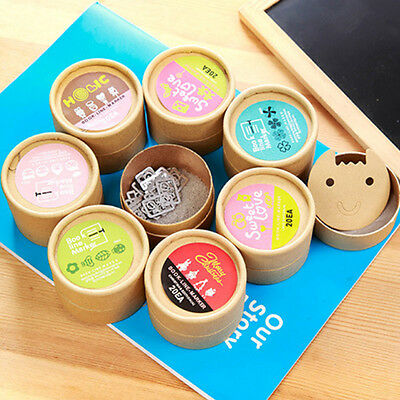 20Pcs Cartoon Metal Bookmarks Office School Book Note Clip With Cute Case Box