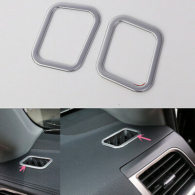 2PCS ABS Chrome Air vent Outlet cover trim For Toyota Highlander 2016
