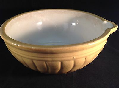 VINTAGE 1920's 30's Bennetts Pottery MAGILL SA Large MIXING BOWL With Lip RETRO