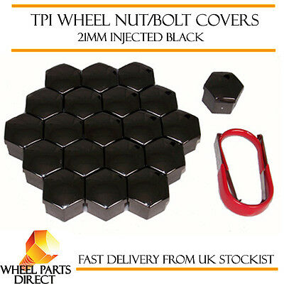 TPI Injected Black Wheel Nut Bolt Covers 21mm Bolt for Ford Transit [Mk7] 00-13