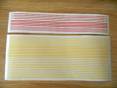 Yellow 1st Class & Red Buffet self adhesive bands for Hornby & Bachmann Coaches