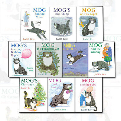 Judith Kerr Mog the Cat Collection 10 Books Set With Bag Pack Mogs Chritmas NEW
