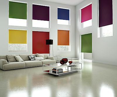 Made to Measure Thermal Blackout Roller Blinds - Large Sizes - 30 Colours!