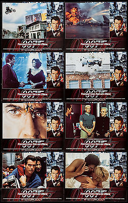 Tomorrow Never Dies Pierce Brosnan James Bond 1997 Lobby Card Set Of 8 Near Mint